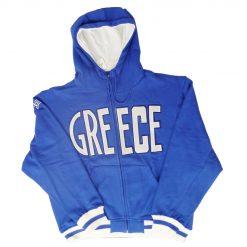 Greece Blue Hoodie Jacket