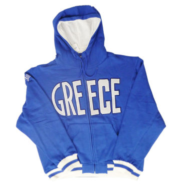 Greece Blue Hoodie Jacket