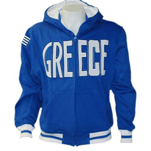 Greece Hoodie Jacket Blue
