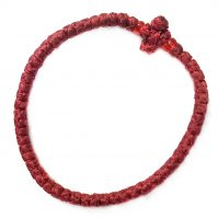 Maroon Thin Komboskini Bracelet