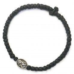 Thin komboskini bracelet with Virgin Mary