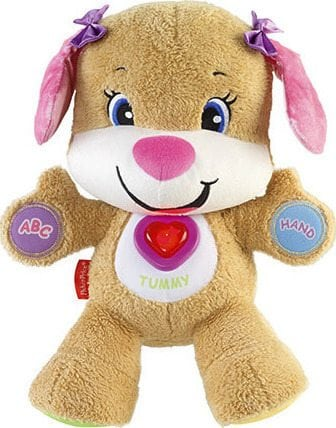 Greek Fisher Price Laugh and Learn Puppy Pink