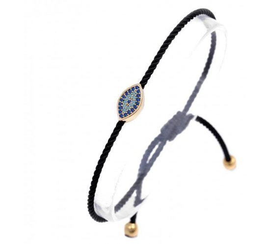 Greek Mati Pull String Bracelet with Turquoise Stones