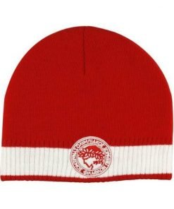 Olympiakos Red and White Knit Cap