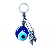 evil eye mati keychain