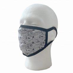 Greek Patten White Face Mask