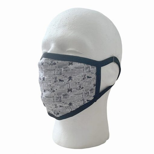Greek Patten White Face Mask