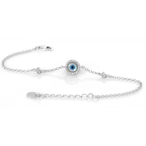 Mother of Pearl Mati Eye Bracelet1