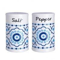 Mediterranean Mati Pattern Salt and Pepper Set