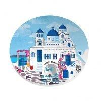ceramic greek taverna coaster