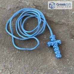 Light Blue Komboskini Cross