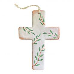 ceramic olive leaves cross