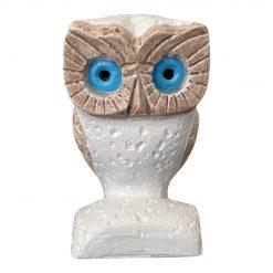 Handmade Ceramic Ancient Owl of Athena