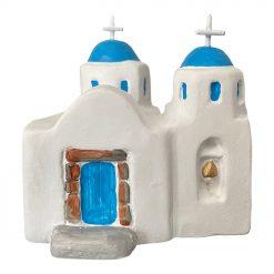 Handmade Ceramic Santorini Church
